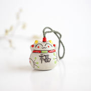 Authentic special offer hand-painted clay colorful copper bell bag hanging ceramic jewelry manufacturers offer