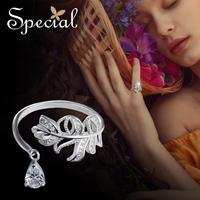 Special 欧美时尚S925银戒指 活口可调节指环银饰 安妮的仙境春季