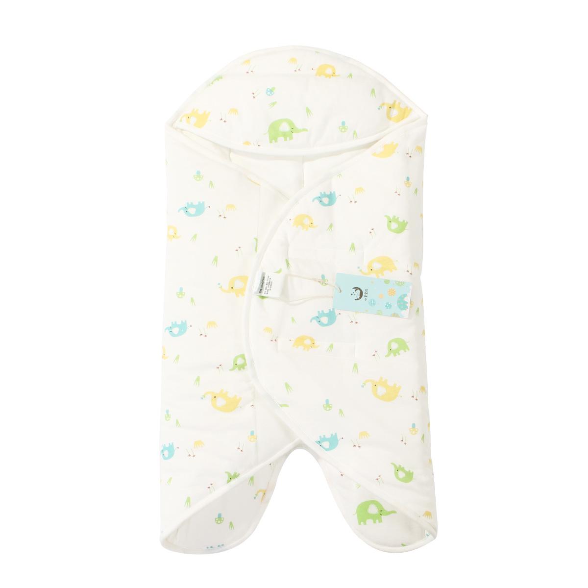 水星宝贝 Baby蝴蝶抱被 新生儿抱被全棉婴儿包被秋冬宝宝用品