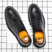秋季真皮商务英伦正装结婚黑色百搭青年韩版休闲皮鞋男潮冬季棉鞋