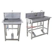 不锈钢脚踏式消毒洗手池单洗手消毒池食品厂洗手池医用洗手盆商用