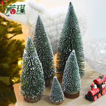 Noki dip white cedar small Christmas tree mini pine needle flocking Christmas tree Christmas decorations desktop decoration