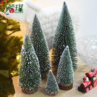 Noki Pine Needle Christmas Tree Mini Desktop Decoration Decoration Christmas Small Household Falling Snow Flocking Tree Cedar