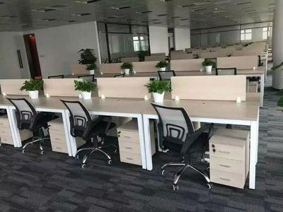 深圳办公家具厂屏风电脑职员桌子 钢架组合员工板式屏风4人位组合网店网址