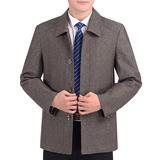 春秋款中老年人夹克衫休闲外套男装上衣中年男士夹克外衣爸爸春装