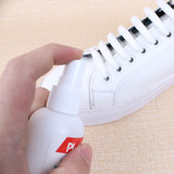 Small white shoes artifact wipe with white spray cleaning magic decontamination cleaner, white shoes super white.