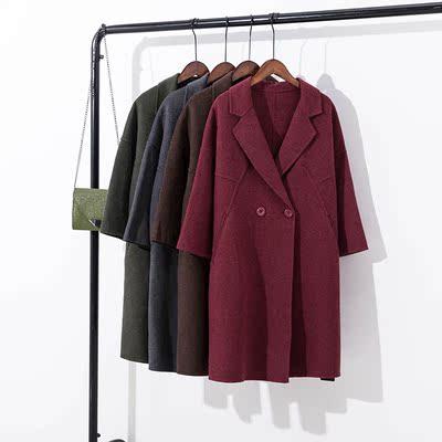 双面呢羊毛大衣女士2018秋冬款羊绒中长款