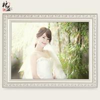 实木相框挂墙欧式7 12 16 20 24 36寸婚纱照相框创意摆台画框定做