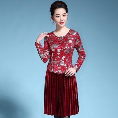 女式25穿的35中年人45时尚衣服装55几岁韩版秋中老年女装 女性