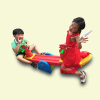 Kindergarten seesaw thick double rocking horse Trojan plastic children rocking horse indoor seesaw outdoor toys