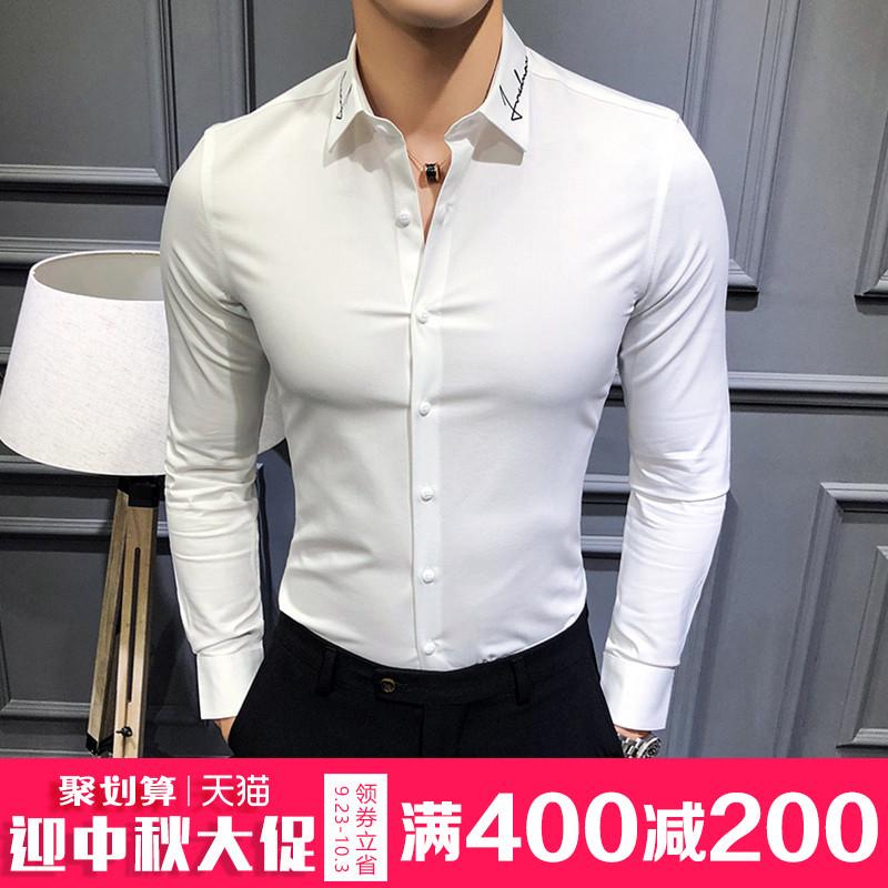 花领衬衫男