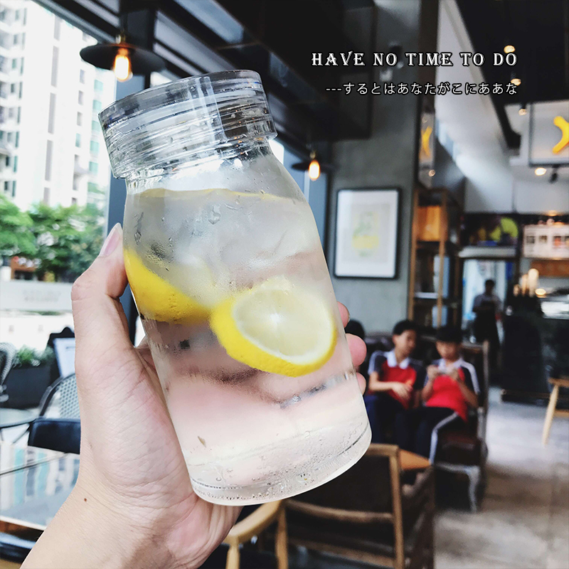 单层玻璃杯杯柠檬杯