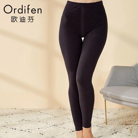 欧迪芬商场同款女中腰长裤护膝秋裤可外穿紧身保暖裤打底裤OW8708商品大图