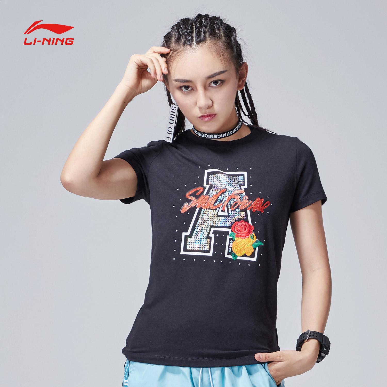 李宁短袖T恤女士新款运动生活运动衣休闲上衣女装夏季运动服