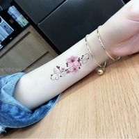 格艾菲彩色花朵纹身贴防水女持久性感手臂仿真刺青小清新纹身贴纸