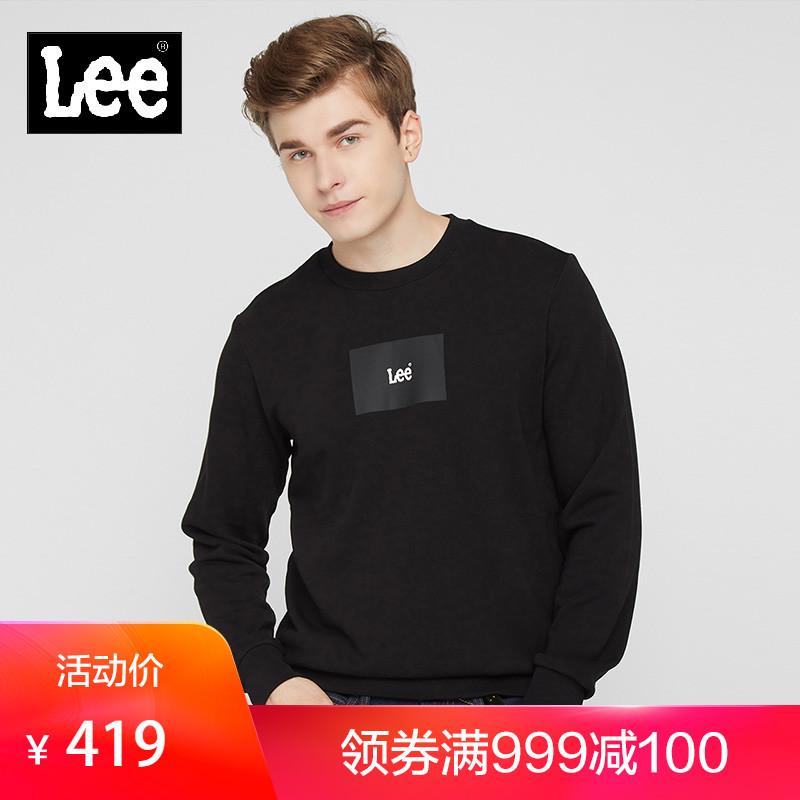 Lee商場同款男款2019年新款黑色/綠色棉質長袖潮流衛衣L347473RV圖片
