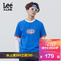 LINE蓝色短袖 T恤L319191RF8MD Lee男装 2018春夏新品