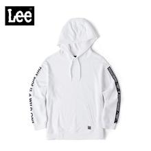 Lee女款 2018年秋季都市骑士白色印花织带长袖卫衣L317483RV8FH图片