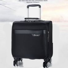 18 inch small boarding box for men and women business trip luggage, universal wheel, waterproof Oxford luggage box, travel bag.