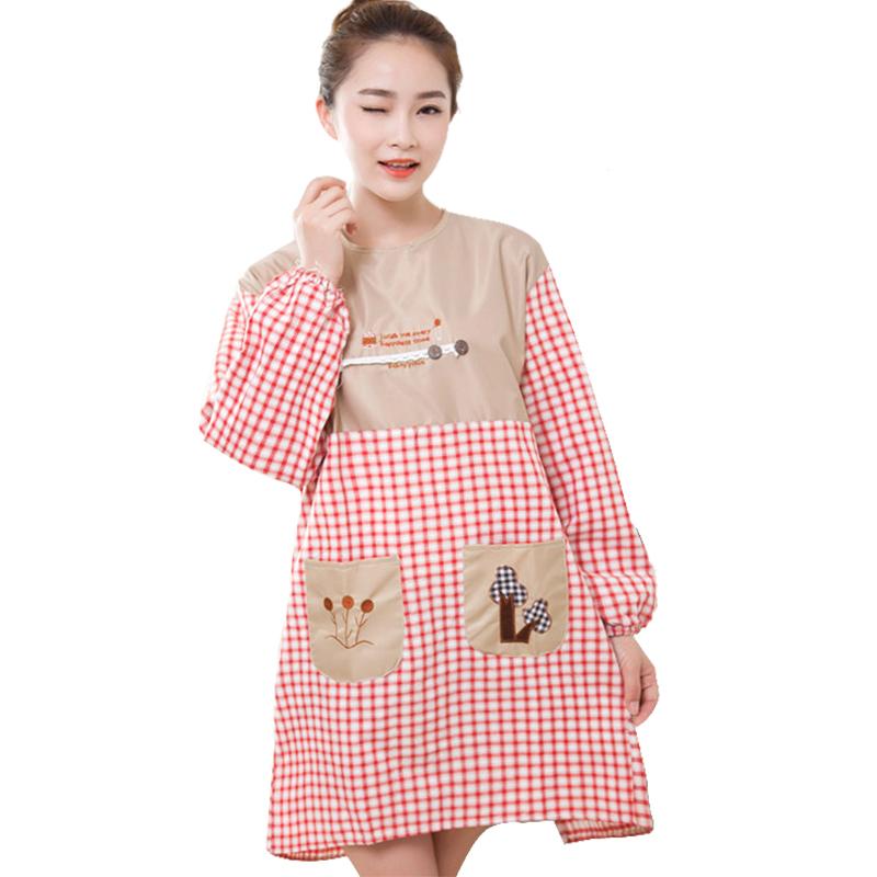 加绒保暖家务手套女厨房洗碗洗衣服清洁手套长袖防水围裙围腰套装