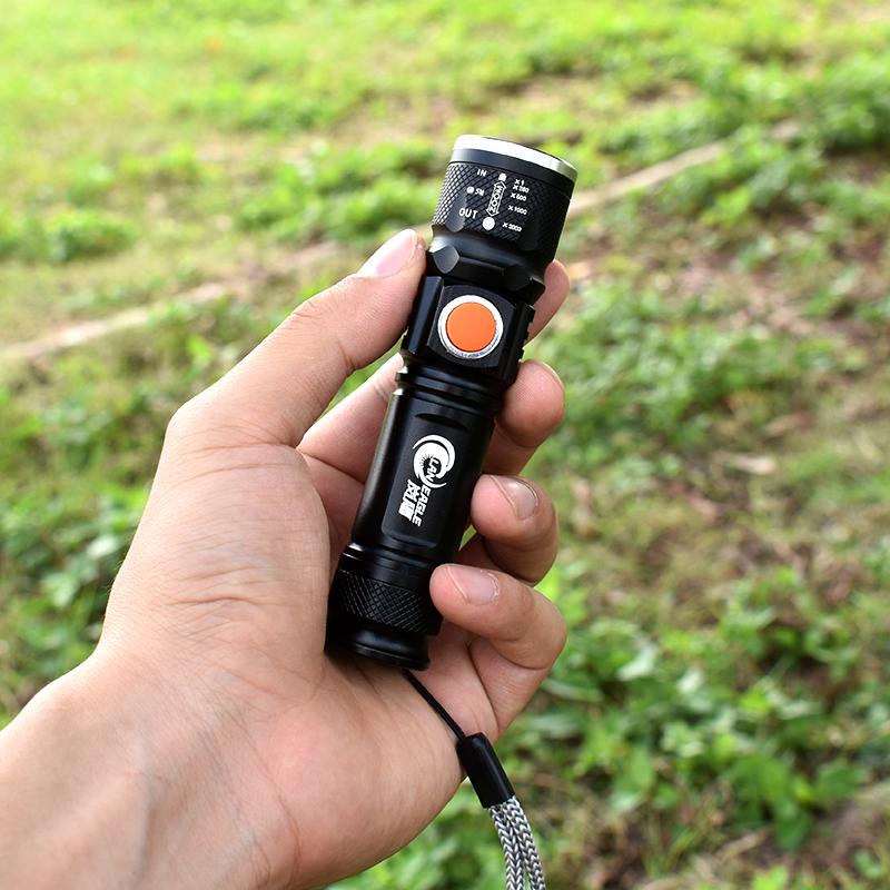 迷你手电筒小便携家用强光充电超亮led户外钥匙手灯远射小型袖珍