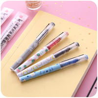White snow straight liquid ballpoint pen cute straight liquid gel pen shaking stationery South Korea net red creative black pen refill