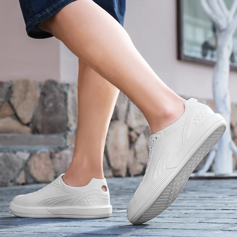 沙滩鞋男夏2018新款洞洞鞋韩版中学生凉鞋一次成型套脚驾车凉鞋潮