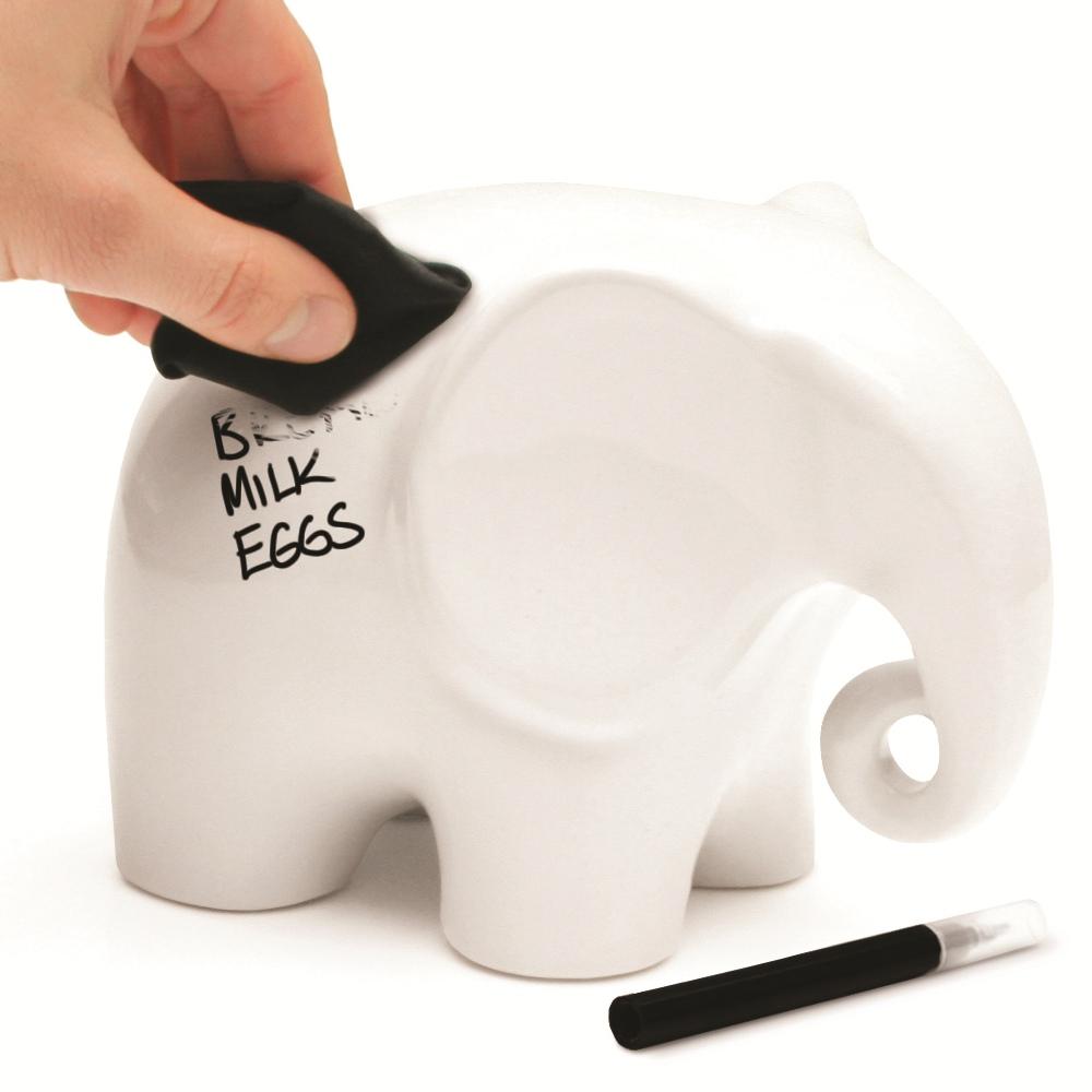 英国Luckies 可擦拭记事大象 创意备忘大象 礼品备忘录架 Eric