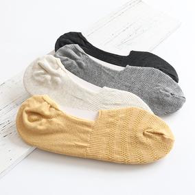 隐形硅胶船袜女夏薄款网眼透气全棉浅口短袜纯棉糖果色豆豆女袜子
