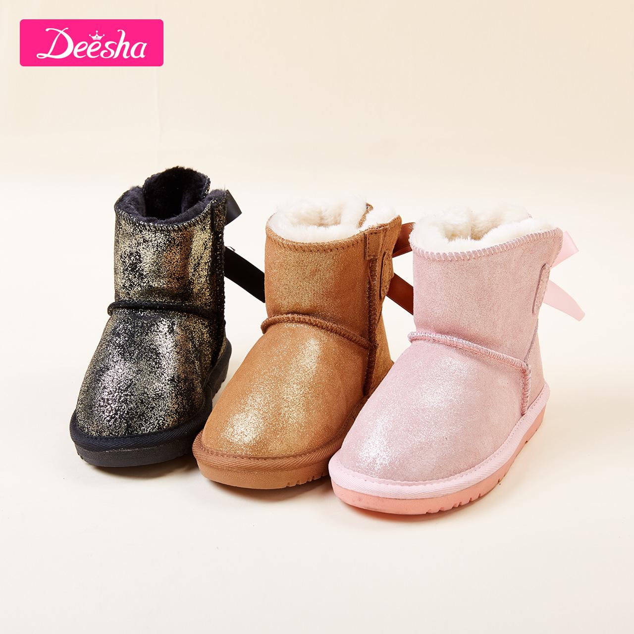 儿童雪地靴亮