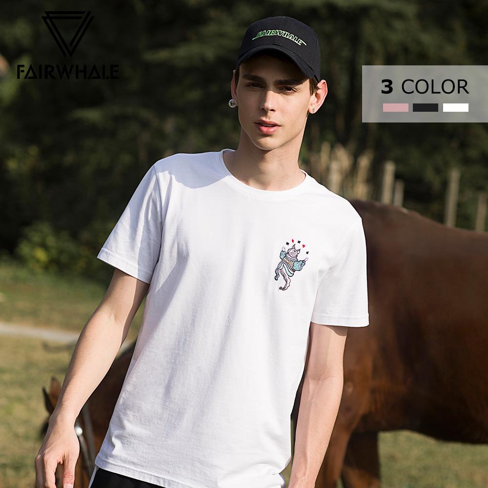 动物刺绣t恤