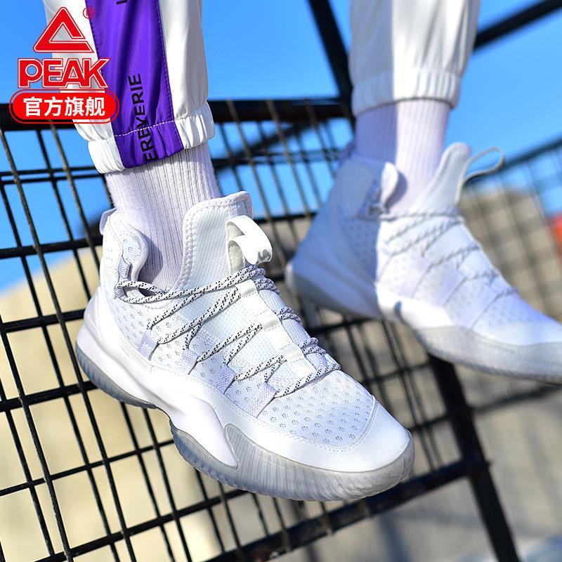匹克篮球鞋男高帮2019夏季防臭透气白色网面战靴运动鞋专业球鞋黑