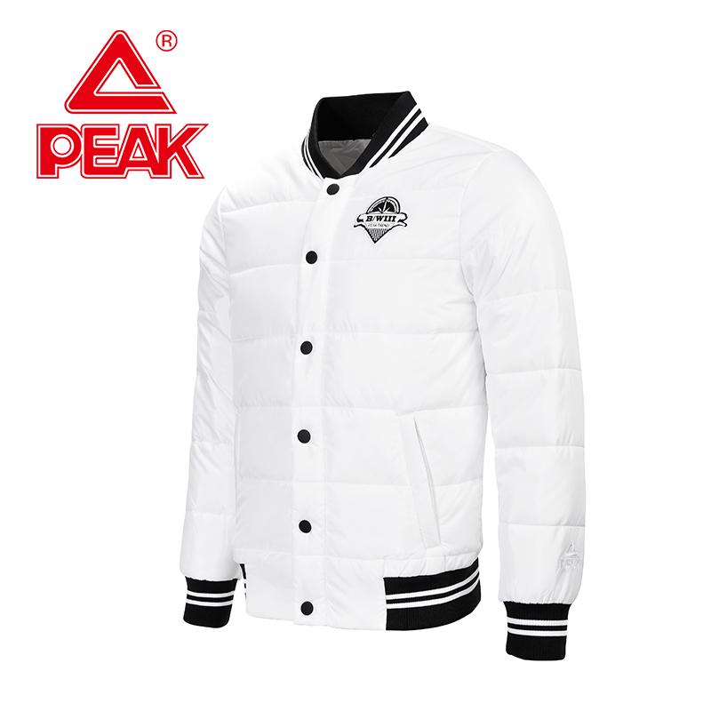 匹克秋冬季新款男子外套时尚保暖运动棉衣立领修身棒球服男装潮