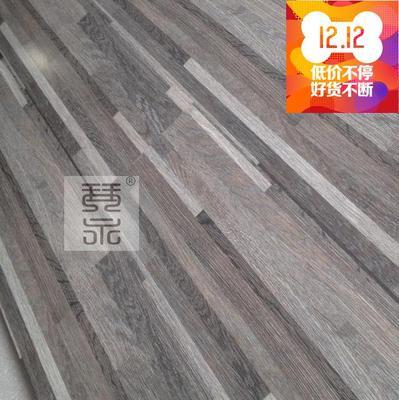 强化复合地板12mm高耐磨光亮面 九拼小格子灰色橡木防水封蜡地板