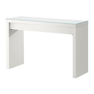 宜家家居IKEA马尔姆梳妆台带玻璃面卧室化妆桌白色国内代购领取优惠券