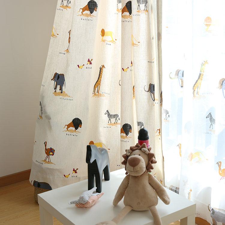 美式乡村儿童房窗帘