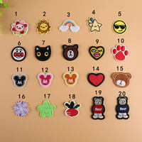 Cartoon small fruit embroidery flower children down clothes cloth stickers jeans decorative cute patch stickers