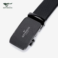 Seven wolf belts Men's automatic buckle leather belt business casual youth belt