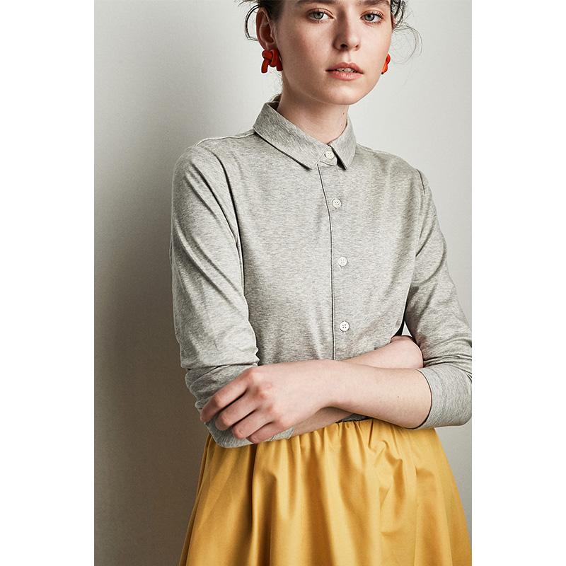 针织棉衬衫