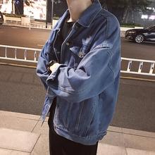 学生男士 休闲外套上衣服潮流男装 秋季日系复古宽松牛仔夹克衫 新款图片