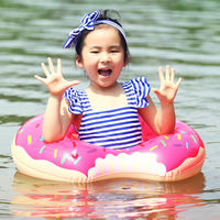 Donut swim ring adult children underarms inflatable floats lifebuoys increase thickening swimming ring gift pump