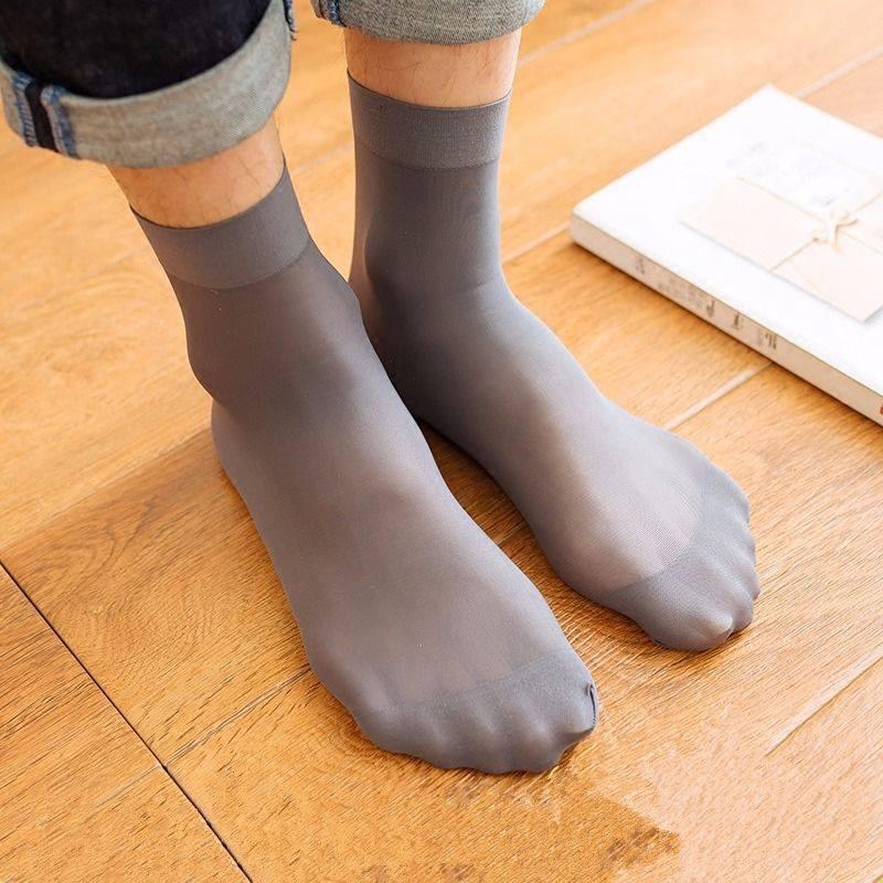 【10双装】大号钢丝袜短袜男士丝袜夏季短男士丝袜中筒袜薄款丝袜