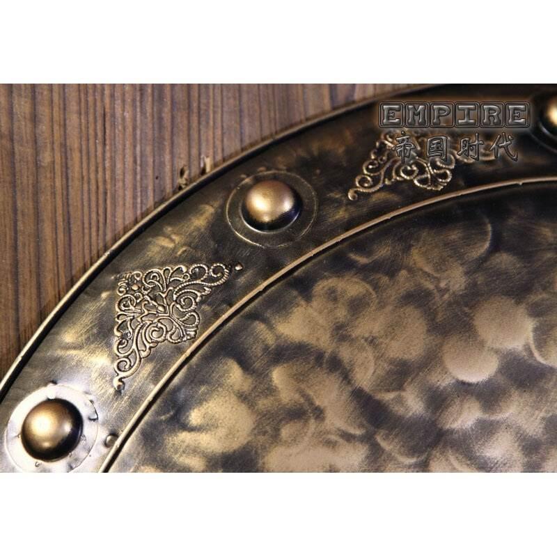仿古铁艺工艺装饰品古罗马盾牌中世纪盔甲武士盾牌