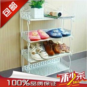 创意简易防尘铁艺鞋架 多层折叠鞋柜 欧式收纳鞋柜置物架特价包邮