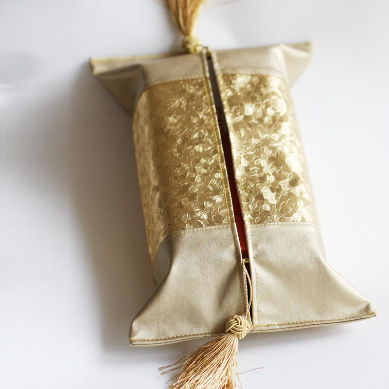 荷花图案 Lmdec欧式仿皮纸巾套/抽纸套/餐巾套