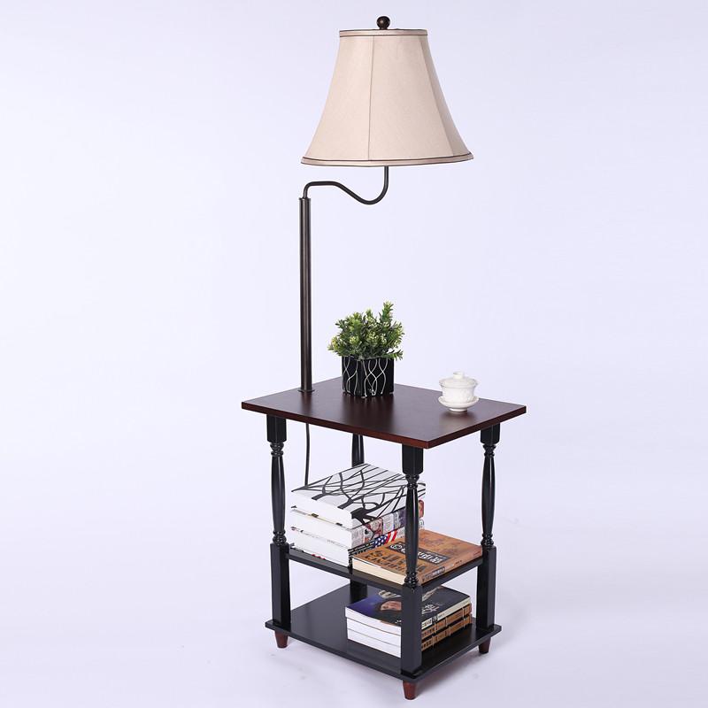 落地灯客厅沙发茶几桌灯北欧置物架灯中式欧式卧室床头落地台灯