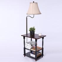 卧室落地灯立式台灯现代中式铁艺书房手绘仿古客厅新中式落地灯
