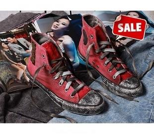 新款韩版水洗做旧铆钉鞋高帮休闲鞋情侣单鞋男女学生帆布鞋个性潮