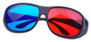 正品卡豚3D红蓝眼镜 大框黑超电脑电影电视近视专用3D立体眼睛
