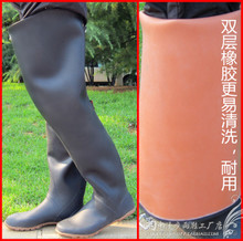 Over-high knee-high rain shoes, rain boots, men's and women's work boots, transplanting shoes, fishing shoes, underwater pants